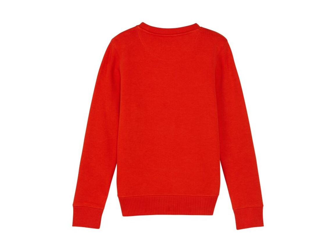 Iconic Kinder Rundhals-Sweatshirt - Bright Red - 5-6 bedrucken, Art.-Nr. STSK913C01105
