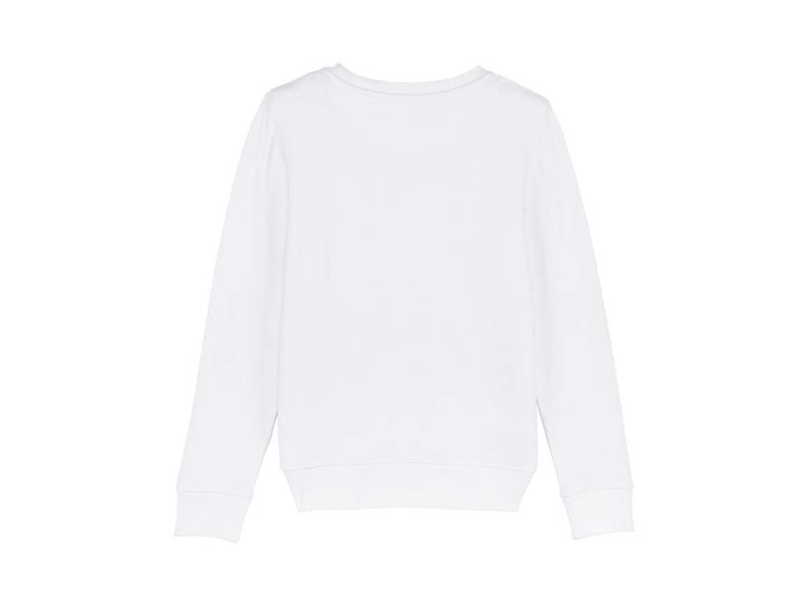Iconic Kinder Rundhals-Sweatshirt - White - 12-14 bedrucken, Art.-Nr. STSK913C00112