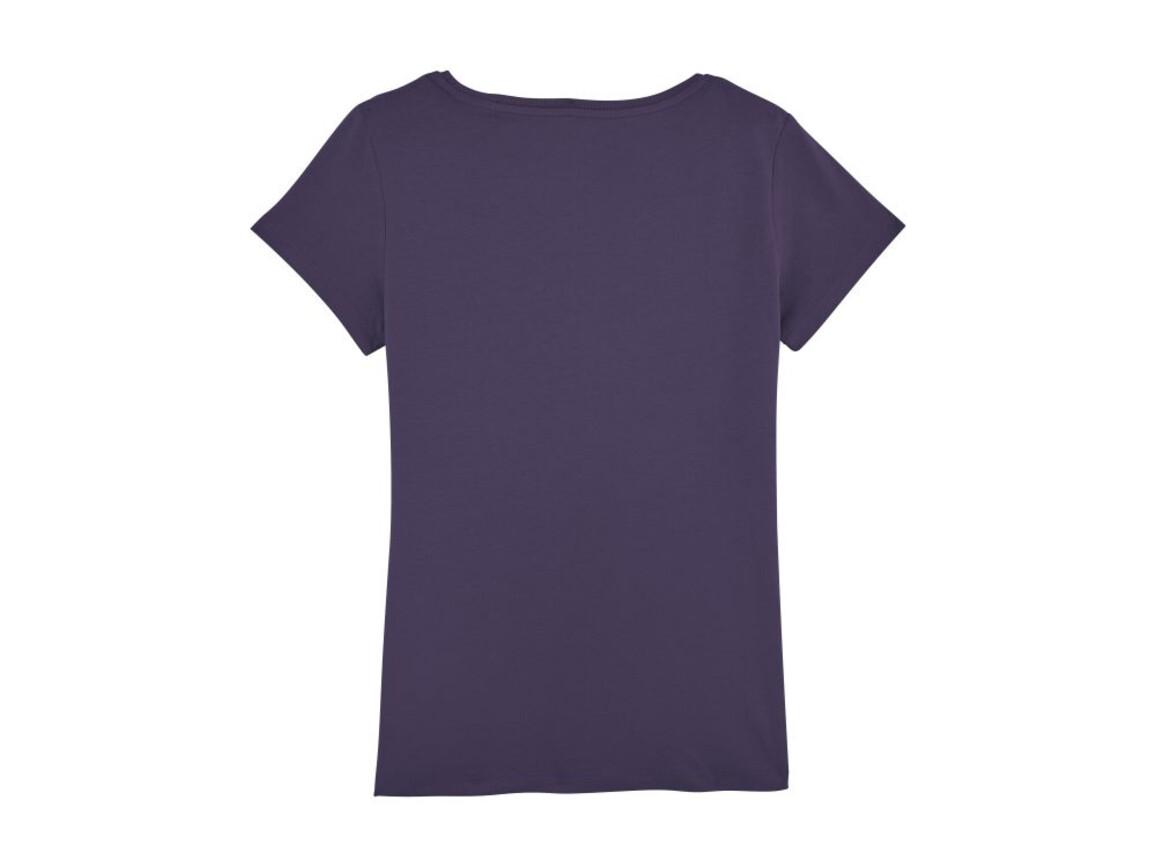 Damen Anliegendes T-Shirt - Plum - S bedrucken, Art.-Nr. STTW028C2411S