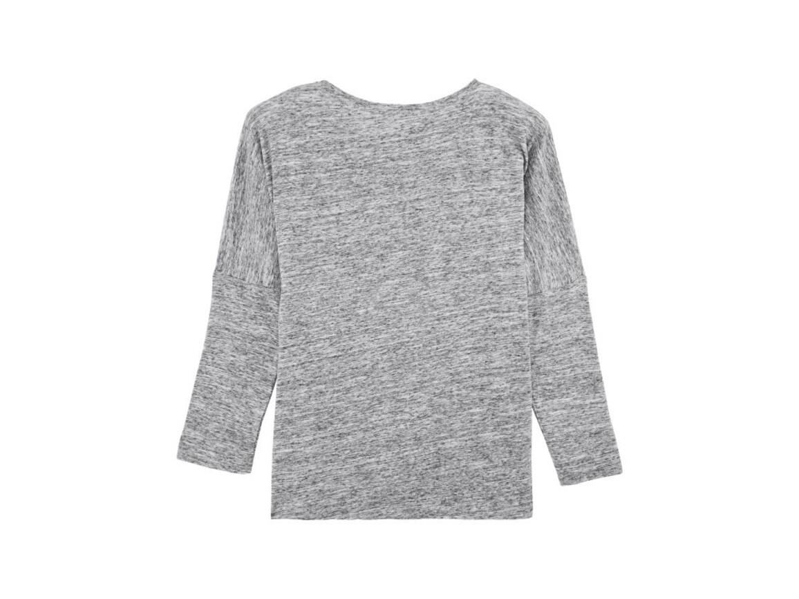 Damen Langärmeliges T-Shirt aus geflammtem Garn mit überschnittenen Ärmelansätzen - Slub Heather Grey - S bedrucken, Art.-Nr. STTW033C6711S