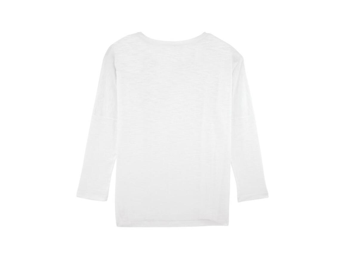 Damen Langärmeliges T-Shirt aus geflammtem Garn mit überschnittenen Ärmelansätzen - White - L bedrucken, Art.-Nr. STTW033C0011L