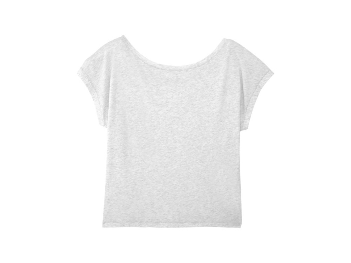 Damen Kurzes T-Shirt - Heather Ash - S bedrucken, Art.-Nr. STTW041C6931S