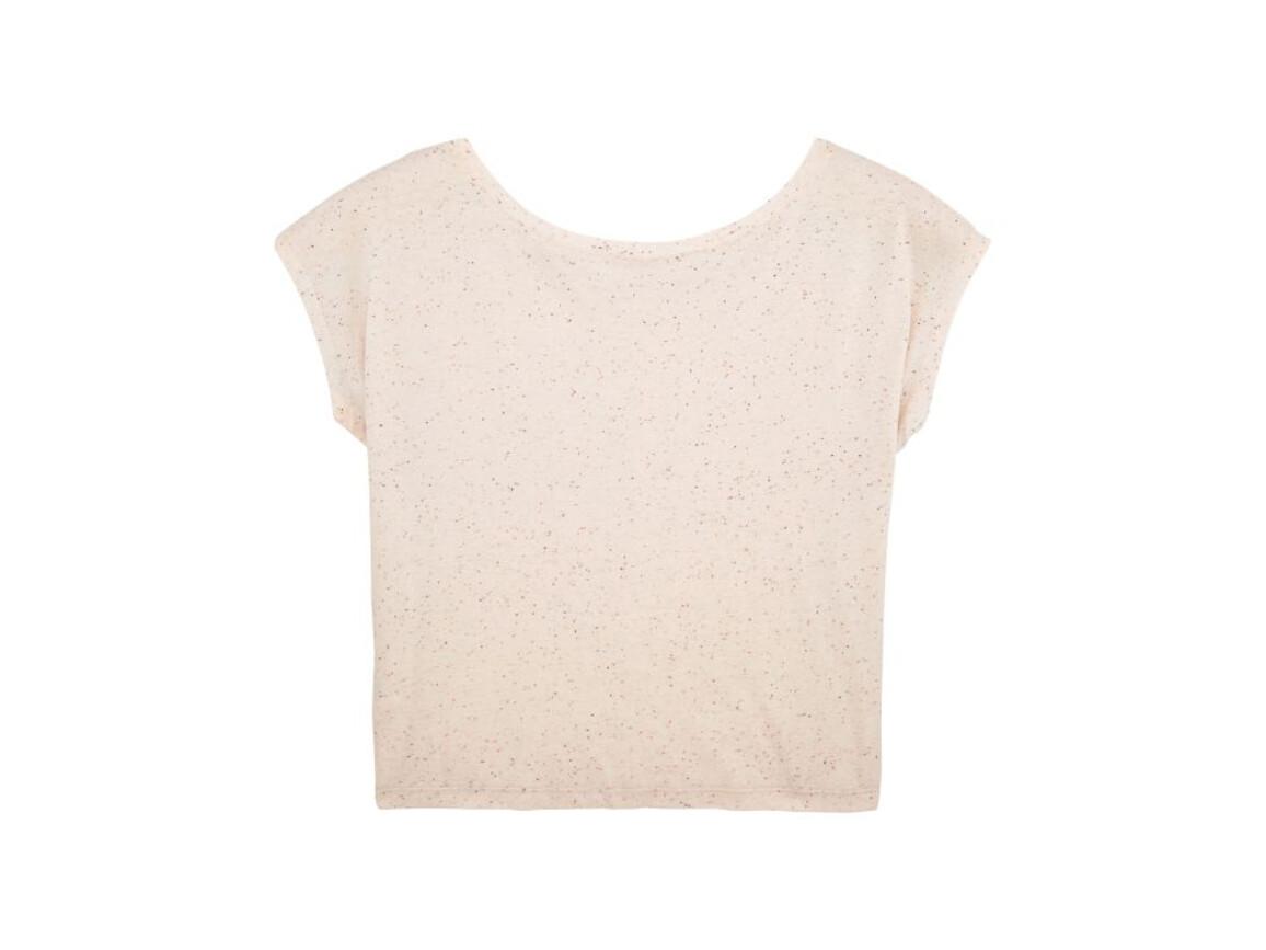 Damen Kurzes T-Shirt - Ecru Neppy Mandarine - S bedrucken, Art.-Nr. STTW041C6951S