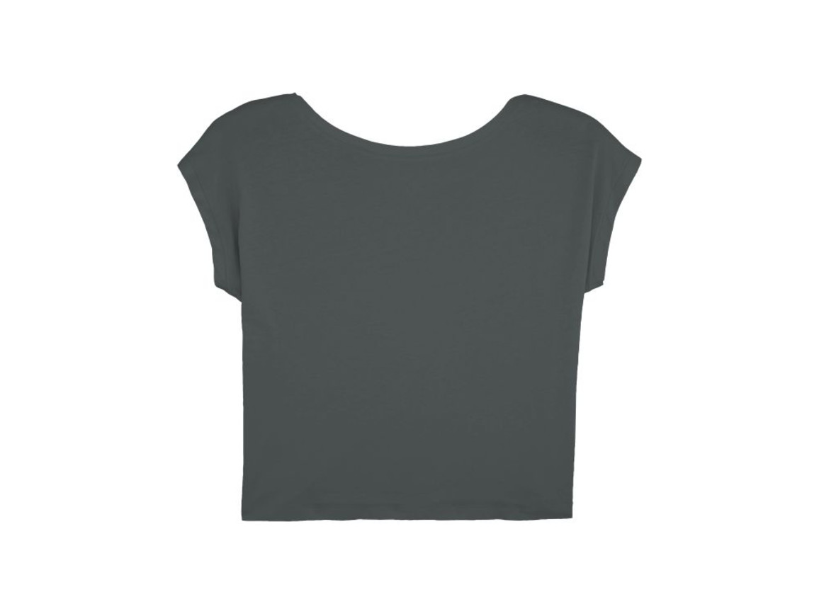 Damen Kurzes T-Shirt - Anthracite - L bedrucken, Art.-Nr. STTW041C2531L
