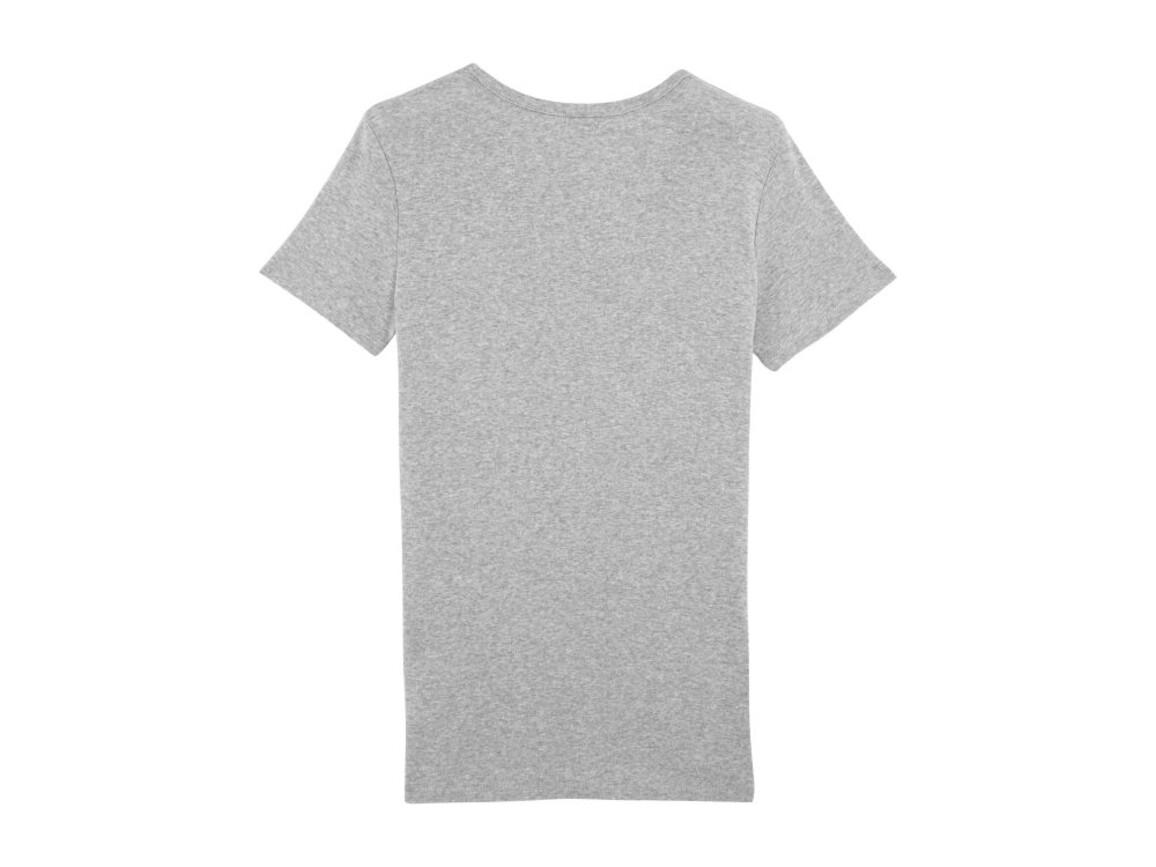 Damen Geripptes T-Shirt - Heather Grey - XS bedrucken, Art.-Nr. STTW059C250XS