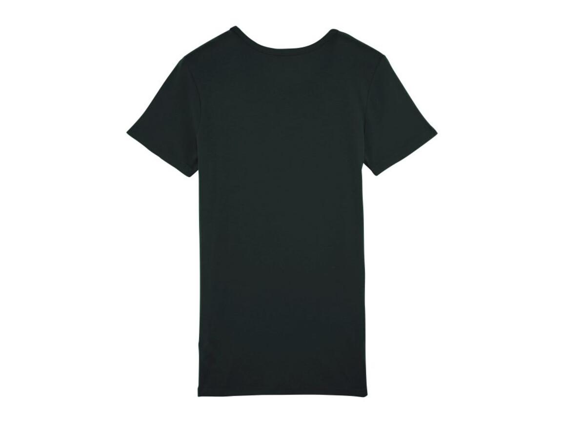 Damen Geripptes T-Shirt - Black - M bedrucken, Art.-Nr. STTW059C0021M