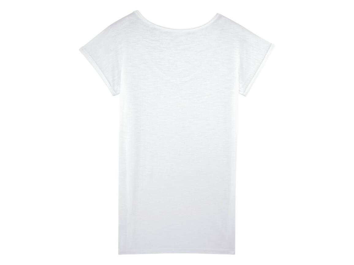 Damen T-Shirt mit V-Ausschnitt und unversäuberten Kanten - White - XS bedrucken, Art.-Nr. STTW145C001XS