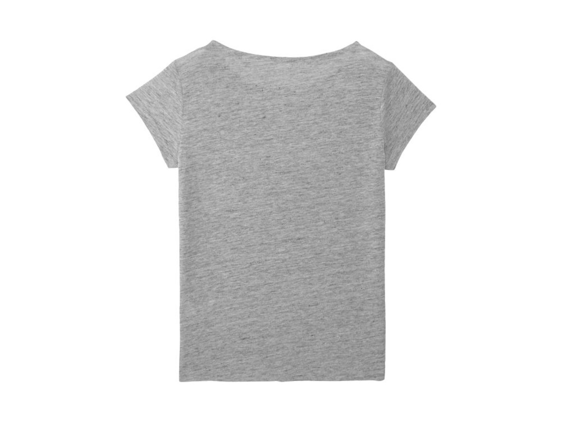 Damen T-Shirt aus Leinen - Linen Mid Heather Grey - L bedrucken, Art.-Nr. STTW431C6941L