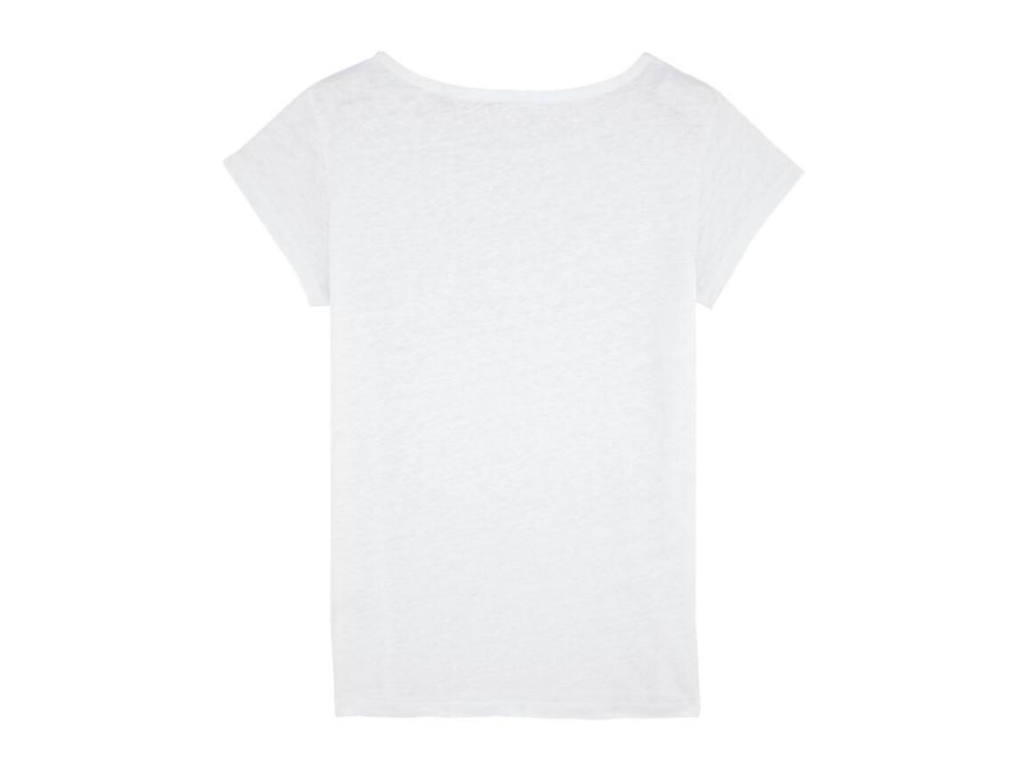 Damen T-Shirt aus Leinen - White - L bedrucken, Art.-Nr. STTW431C0011L