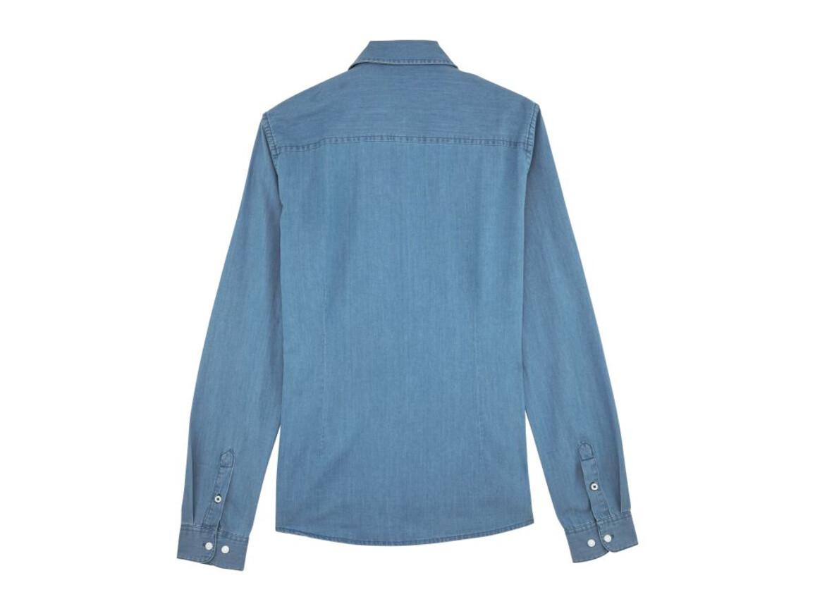 Damen Jeanshemd - Light Indigo Denim - XL bedrucken, Art.-Nr. STWW072C5701X
