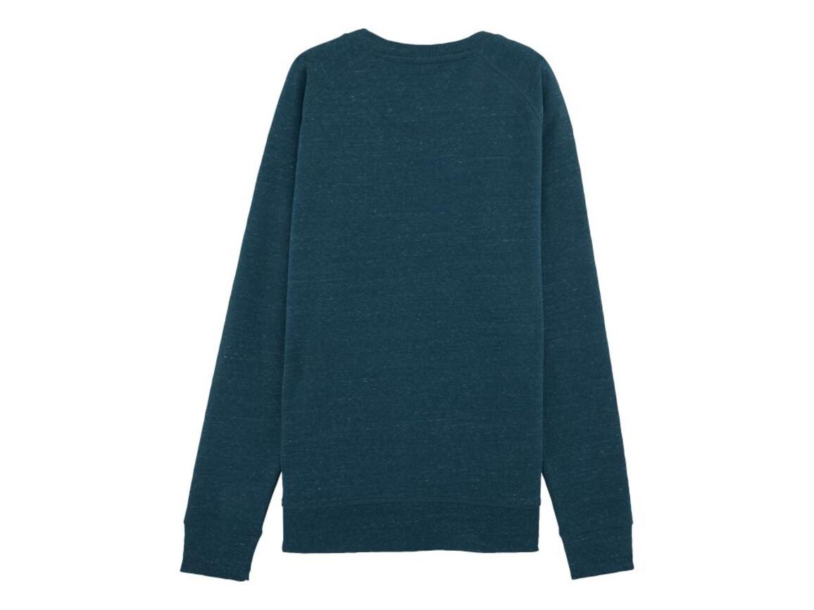 Raglan-Sweatshirt mit Rundhalsausschnitt - Dark Heather Denim - L bedrucken, Art.-Nr. STSM522C6701L
