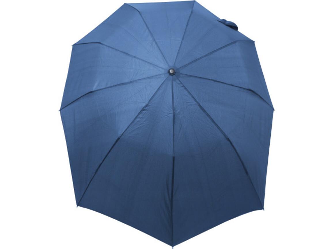 Automatik-Regenschirm 'Nine' – Blau bedrucken, Art.-Nr. 005999999_8286