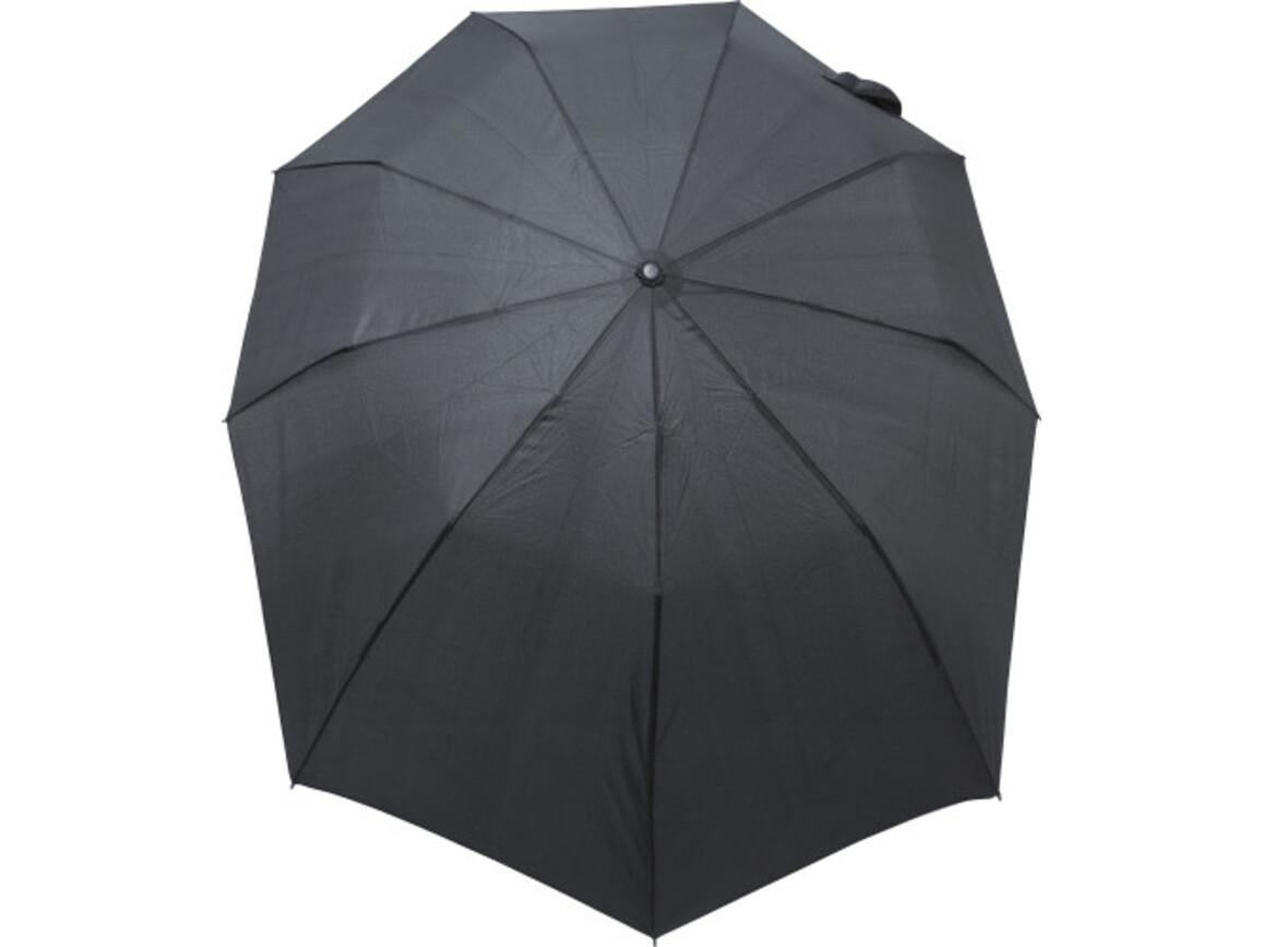 Automatik-Regenschirm 'Nine' – Schwarz bedrucken, Art.-Nr. 001999999_8286