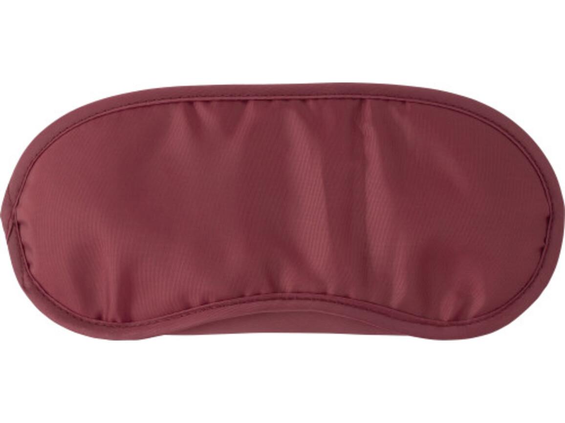 Schlafmaske 'Sleep Tight' aus Nylon – Bordeauxrot bedrucken, Art.-Nr. 010999999_8466