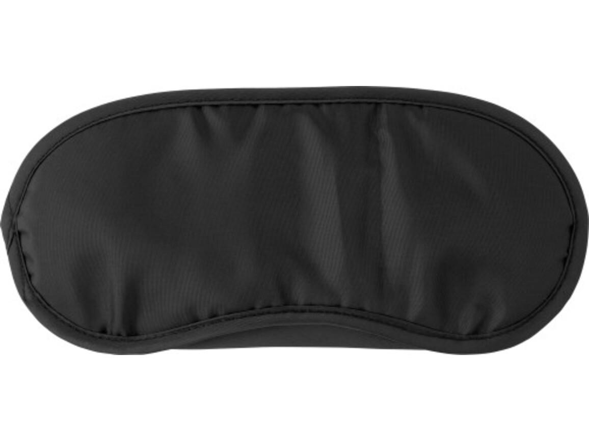 Schlafmaske 'Sleep Tight' aus Nylon – Schwarz bedrucken, Art.-Nr. 001999999_8466