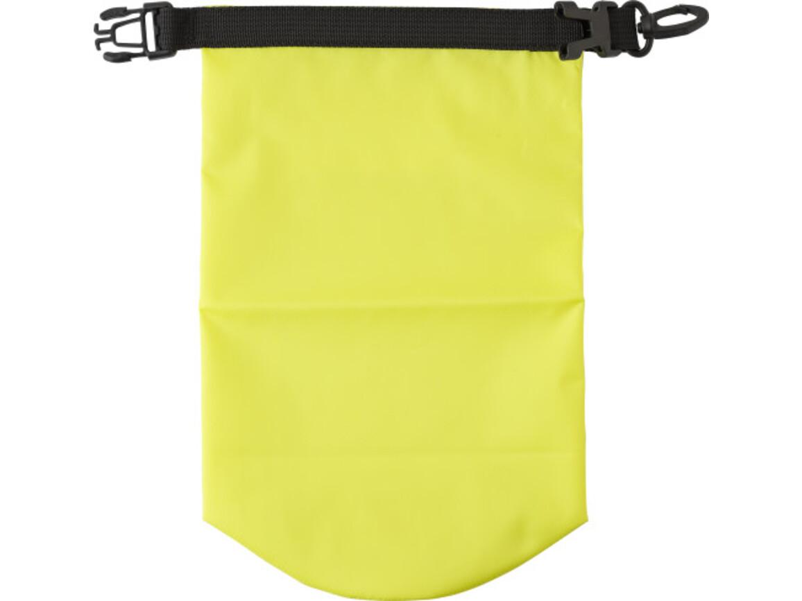 Wasserfeste Strandtasche 'Paddle' aus Polyester – Gelb bedrucken, Art.-Nr. 006999999_8565