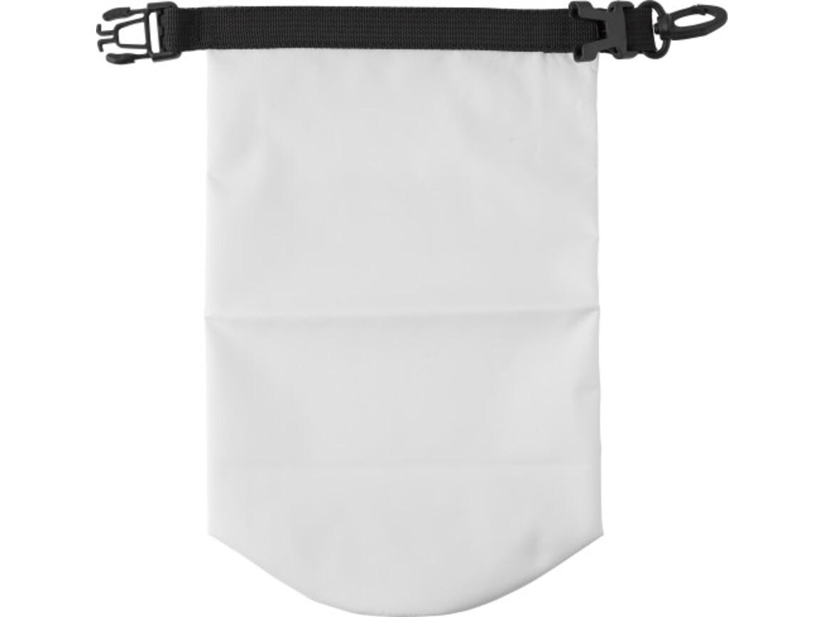Wasserfeste Strandtasche 'Paddle' aus Polyester – Weiß bedrucken, Art.-Nr. 002999999_8565