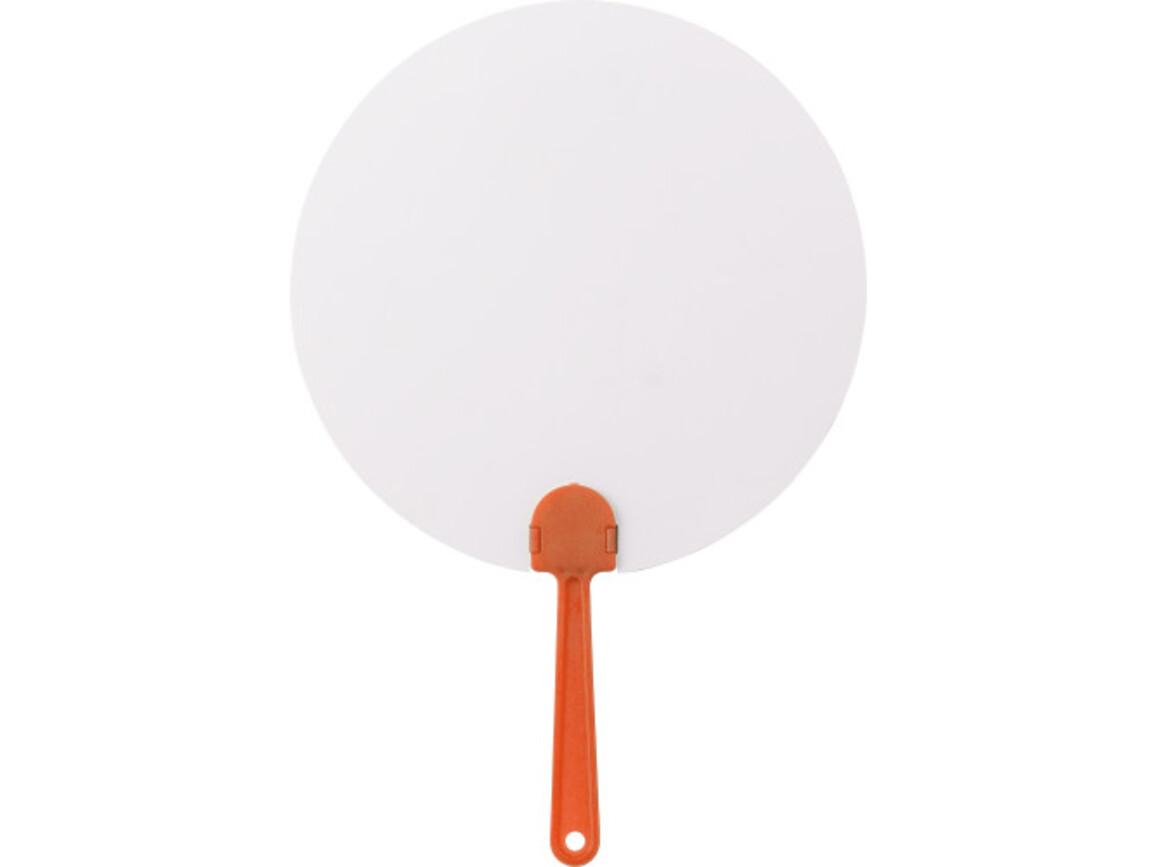 Fächer 'Windy' aus Papier – Orange bedrucken, Art.-Nr. 007999999_8580