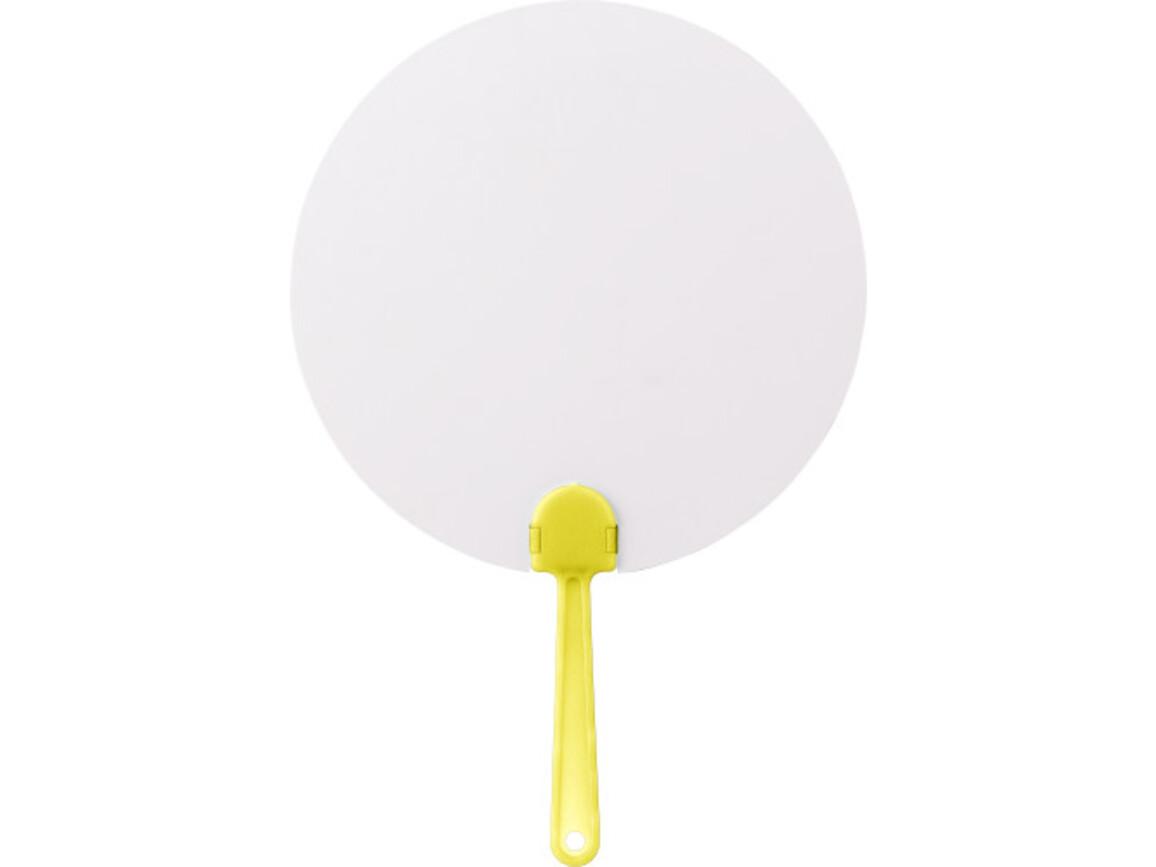 Fächer 'Windy' aus Papier – Gelb bedrucken, Art.-Nr. 006999999_8580