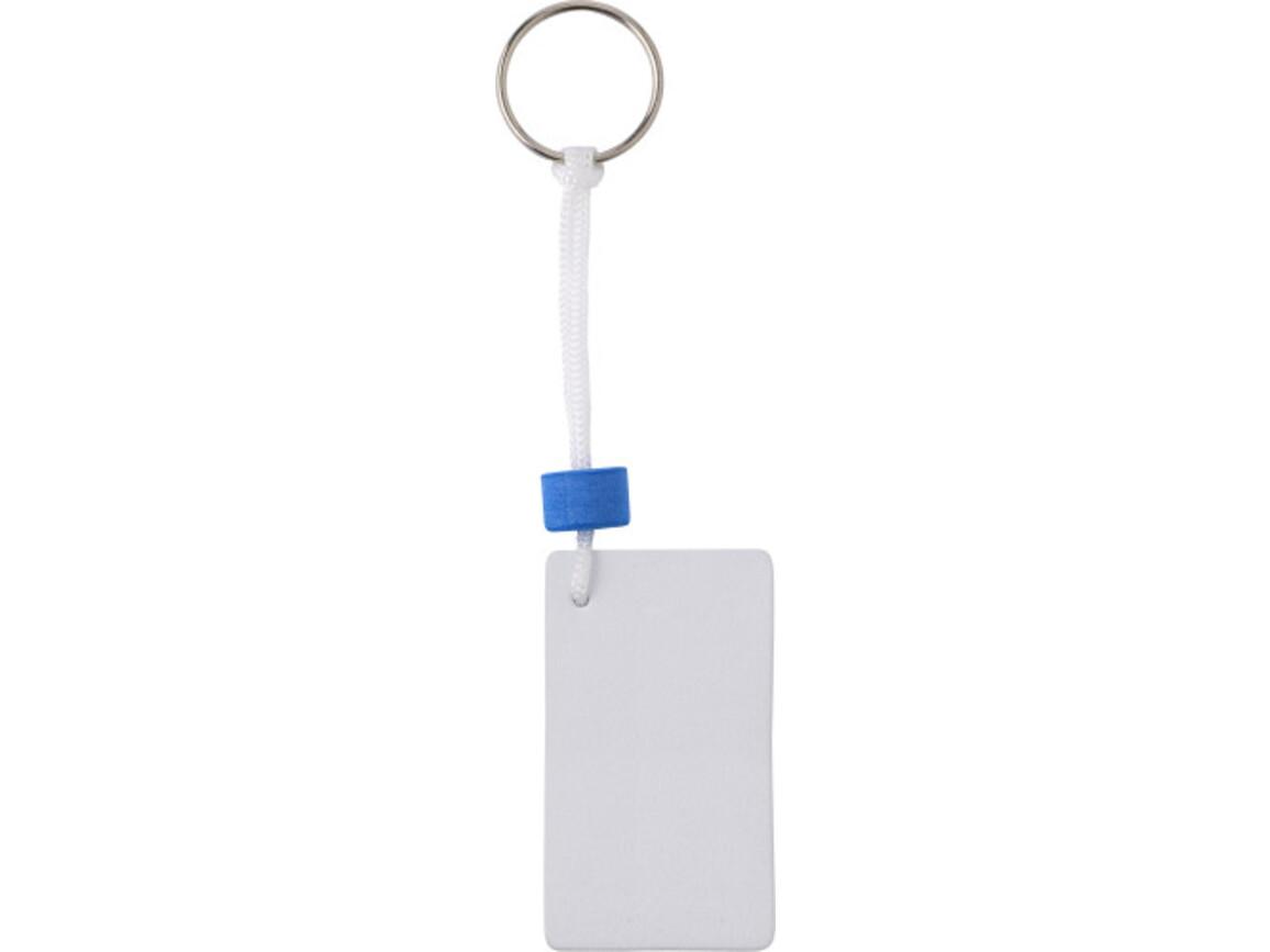 Schlüsselanhänger 'Rectangle' aus EVA – Weiß bedrucken, Art.-Nr. 002999999_8590