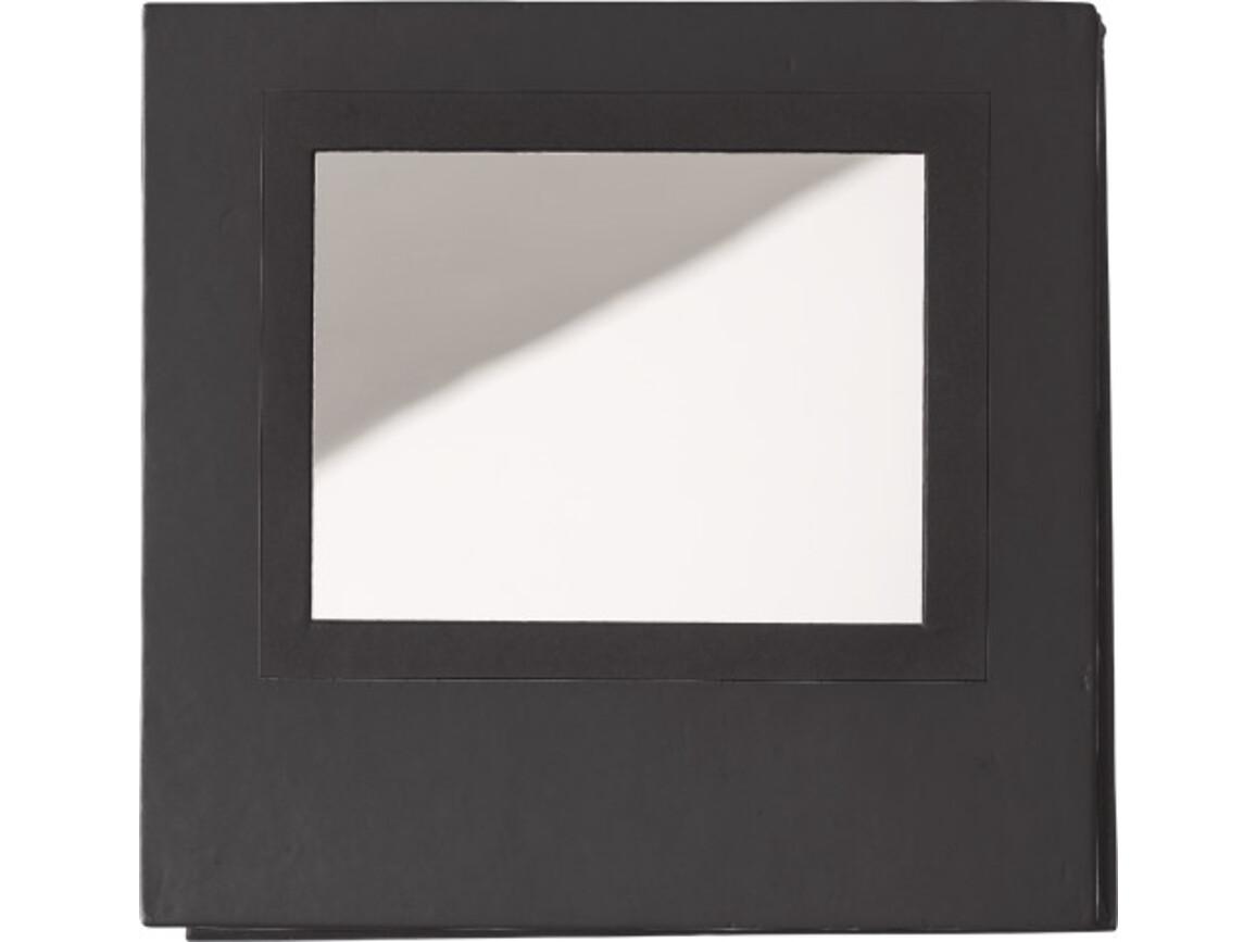 Notizblock 'Grace' mit Spiegel – Schwarz bedrucken, Art.-Nr. 001999999_8792