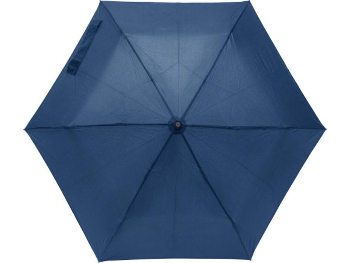 Regenschirm 'Tom' aus Pongee-Seide – Blau bedrucken, Art.-Nr. 005999999_8795