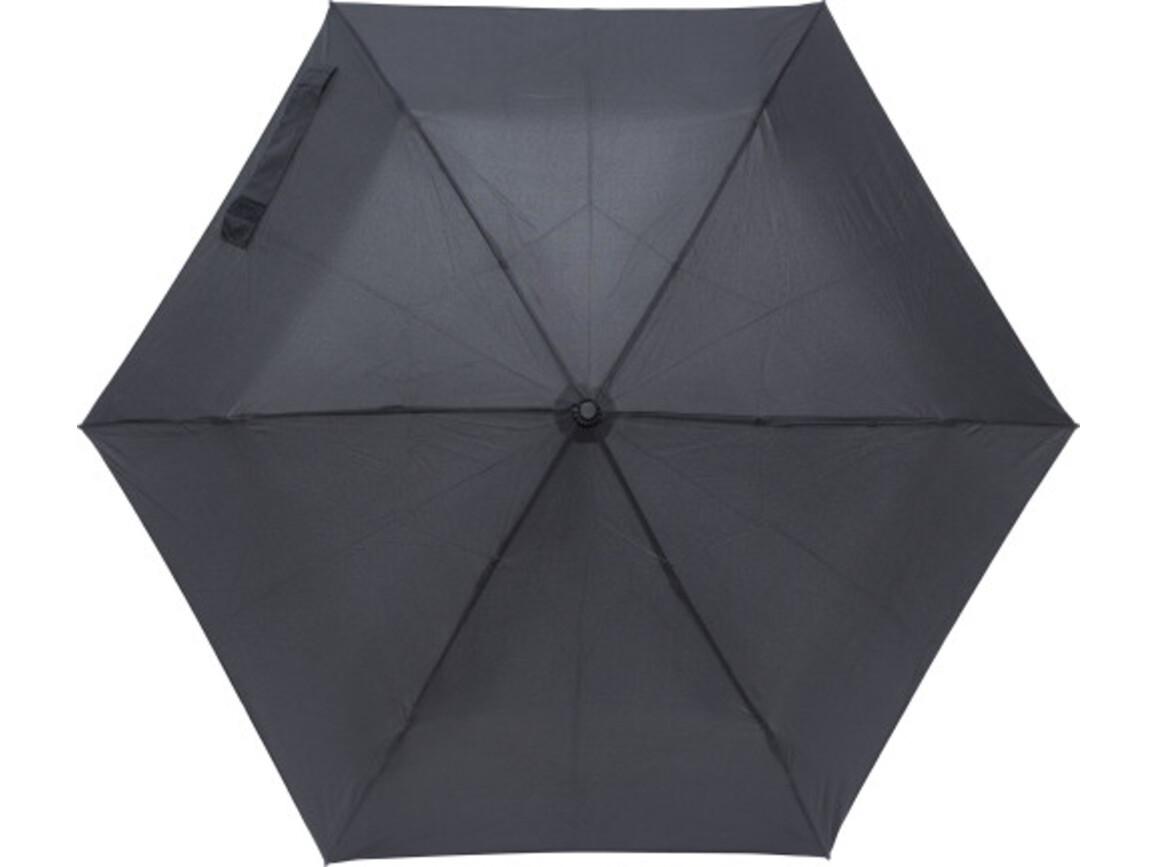 Regenschirm 'Tom' aus Pongee-Seide – Schwarz bedrucken, Art.-Nr. 001999999_8795