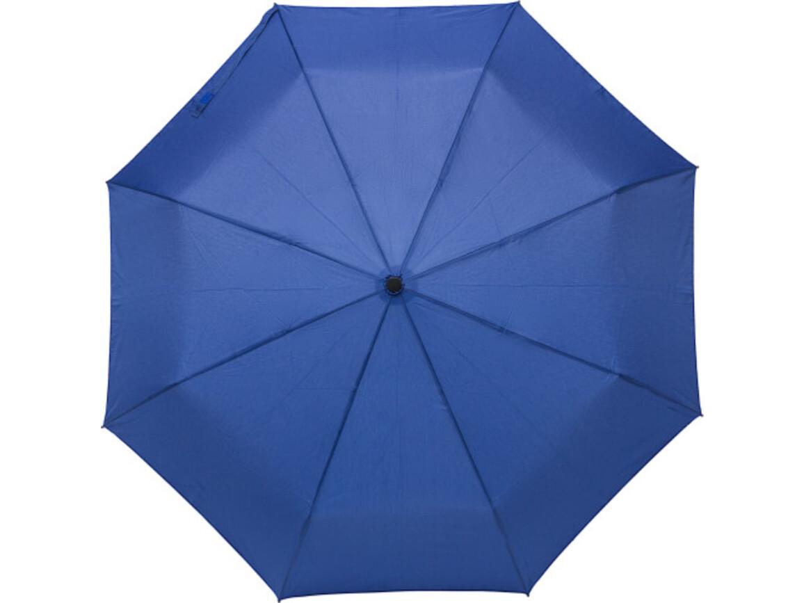 Regenschirm 'Piet' aus Pongee-Seide – Blau bedrucken, Art.-Nr. 005999999_8825