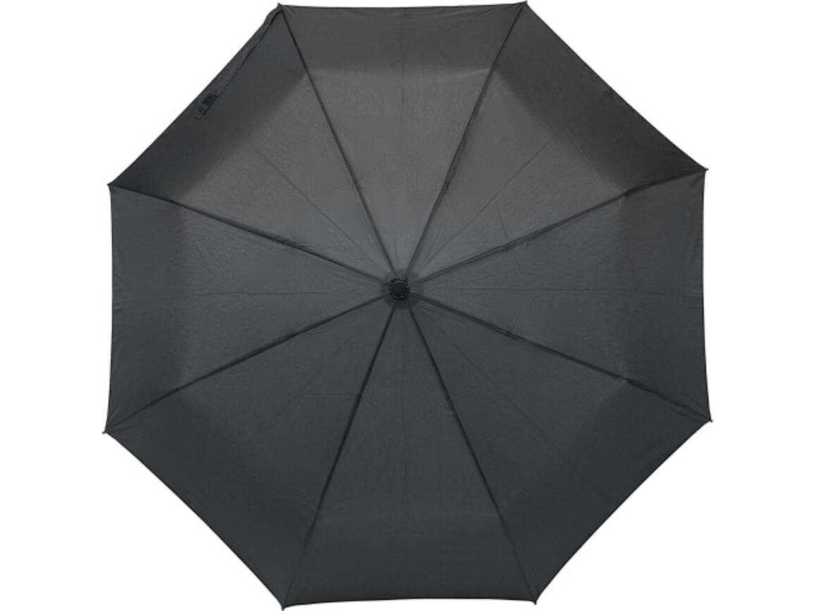 Regenschirm 'Piet' aus Pongee-Seide – Schwarz bedrucken, Art.-Nr. 001999999_8825