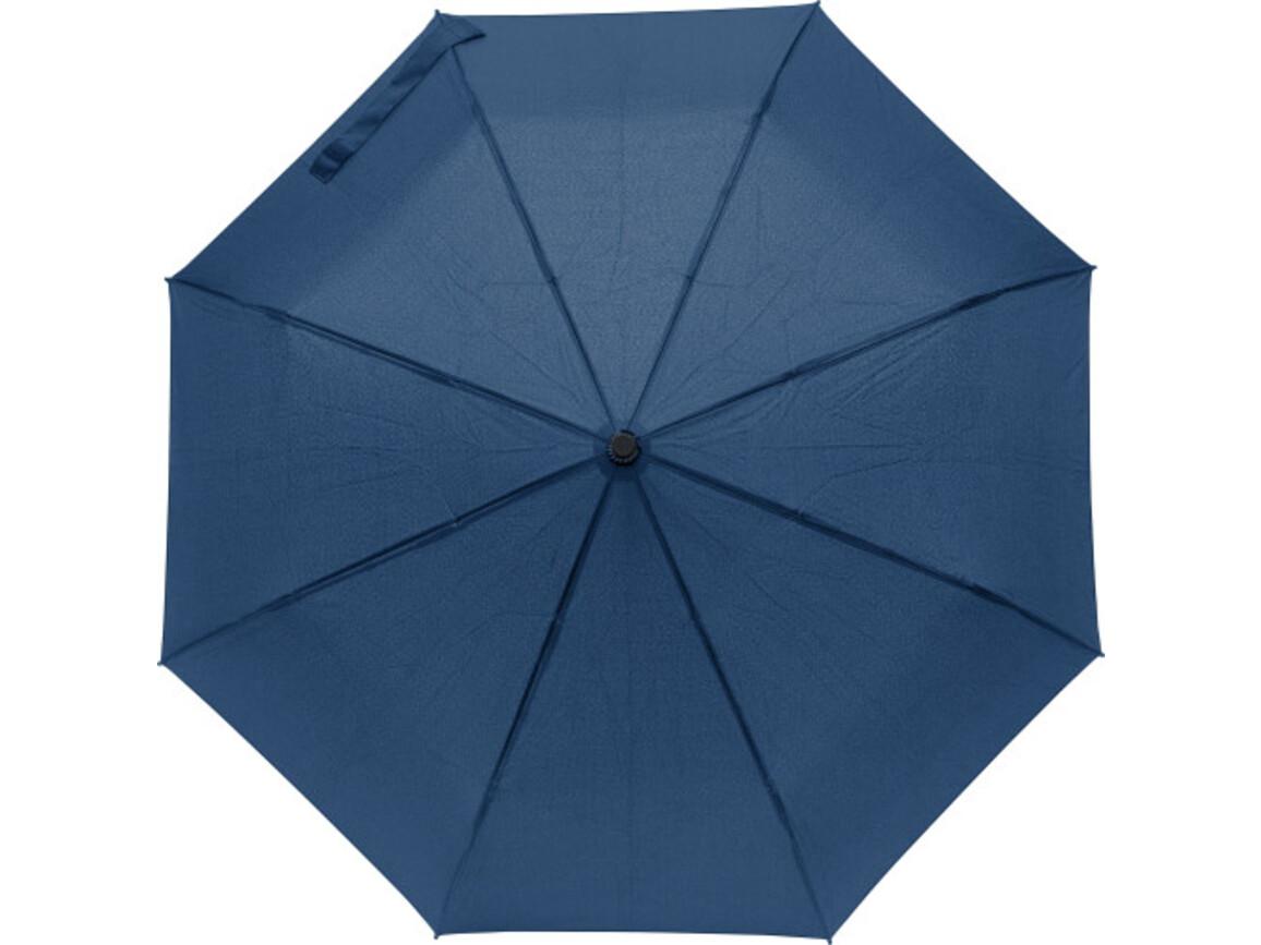 Regenschirm 'Tiny' aus Pongee-Seide – Blau bedrucken, Art.-Nr. 005999999_8913