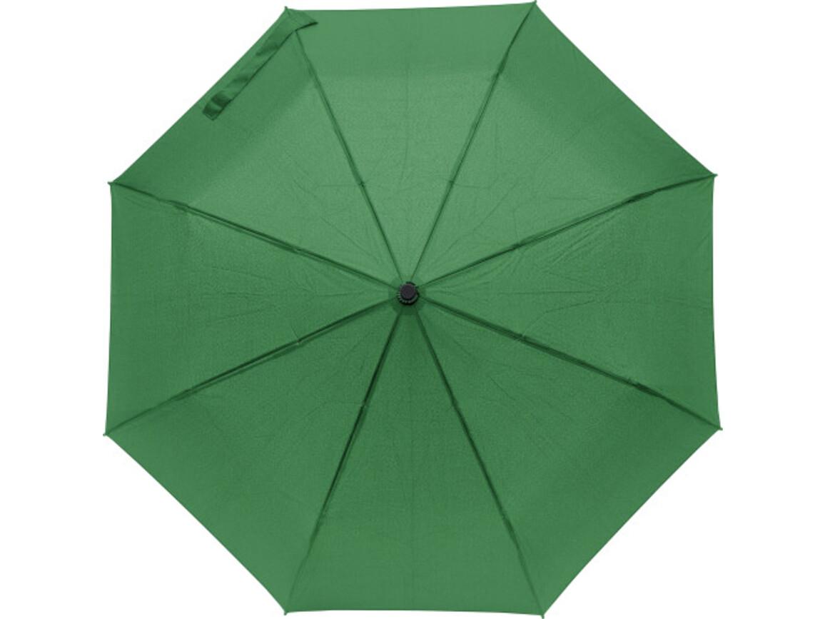 Regenschirm 'Tiny' aus Pongee-Seide – Grün bedrucken, Art.-Nr. 004999999_8913