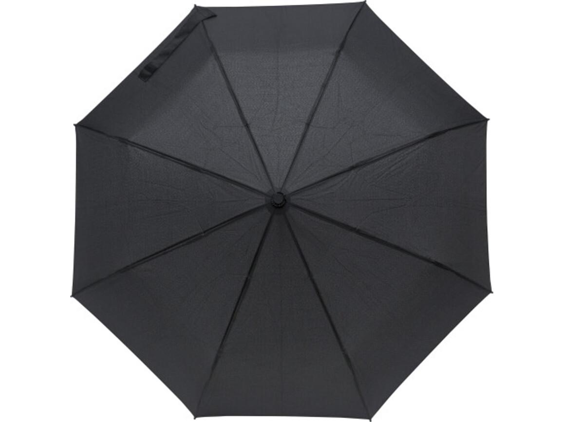 Regenschirm 'Tiny' aus Pongee-Seide – Schwarz bedrucken, Art.-Nr. 001999999_8913