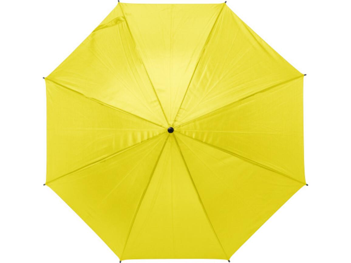 Automatik-Regenschirm 'Harrie' aus Polyester – Gelb bedrucken, Art.-Nr. 006999999_9126