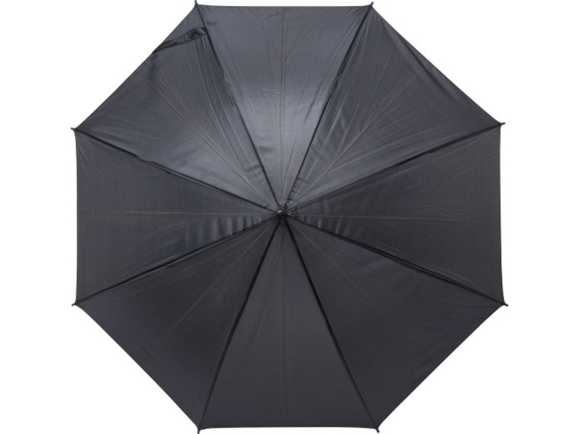 Automatik-Regenschirm 'Harrie' aus Polyester – Schwarz bedrucken, Art.-Nr. 001999999_9126