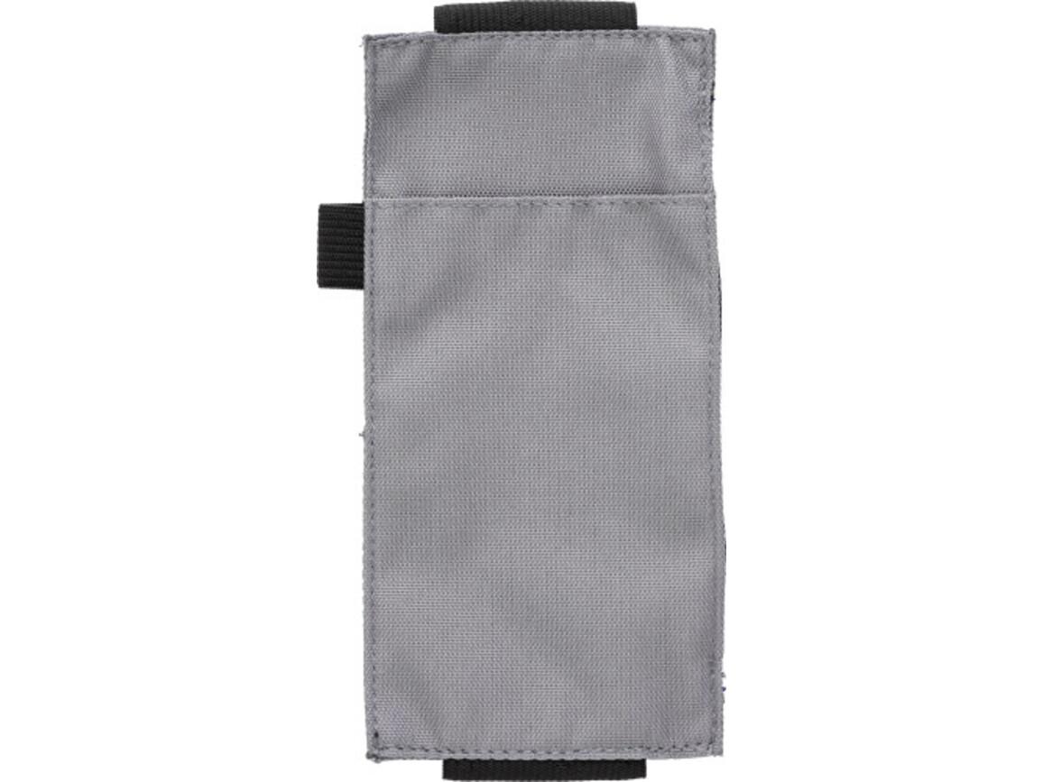 Stifte-Etui 'Wrapper' aus Kunststoff – Grau bedrucken, Art.-Nr. 003999999_9142
