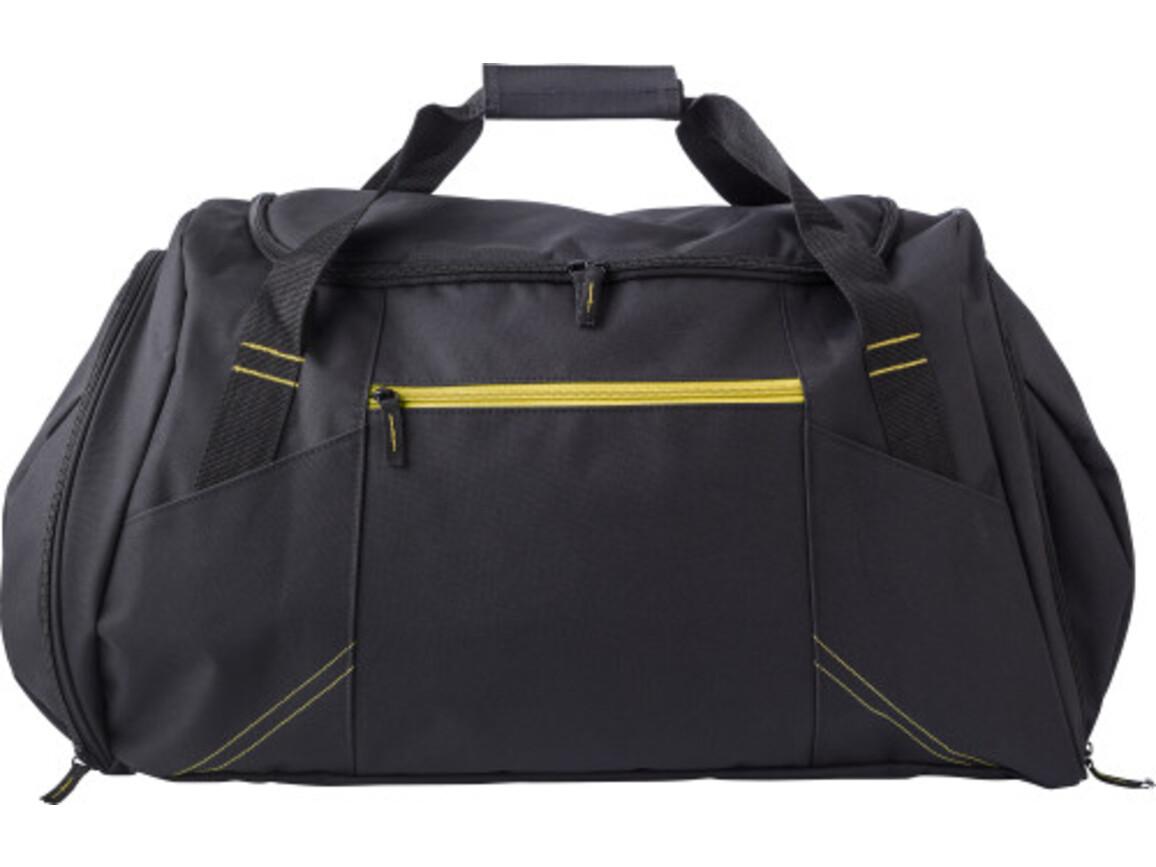 Sporttasche 'Workout' aus Polyester – Gelb bedrucken, Art.-Nr. 006999999_9163