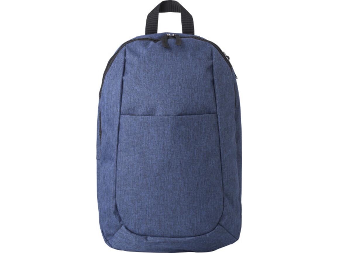 Rucksack 'Malky' aus Polyester – Blau bedrucken, Art.-Nr. 005999999_9167