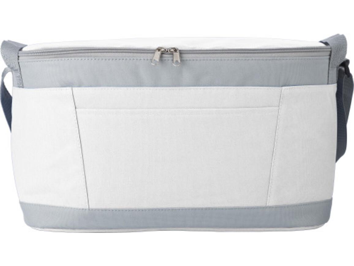 Kühltasche 'Eisprinz' aus Polyester – Weiß bedrucken, Art.-Nr. 002999999_9171