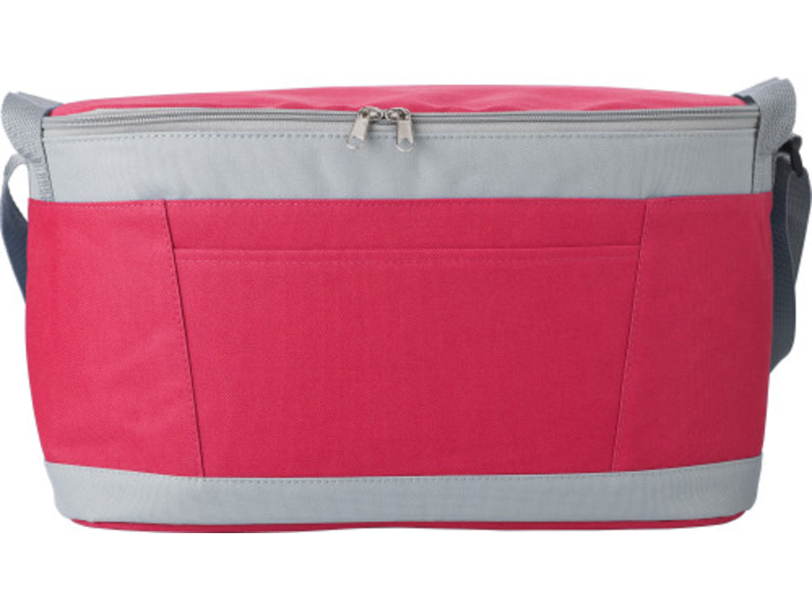 Kühltasche 'Eisprinz' aus Polyester – Rot bedrucken, Art.-Nr. 008999999_9171