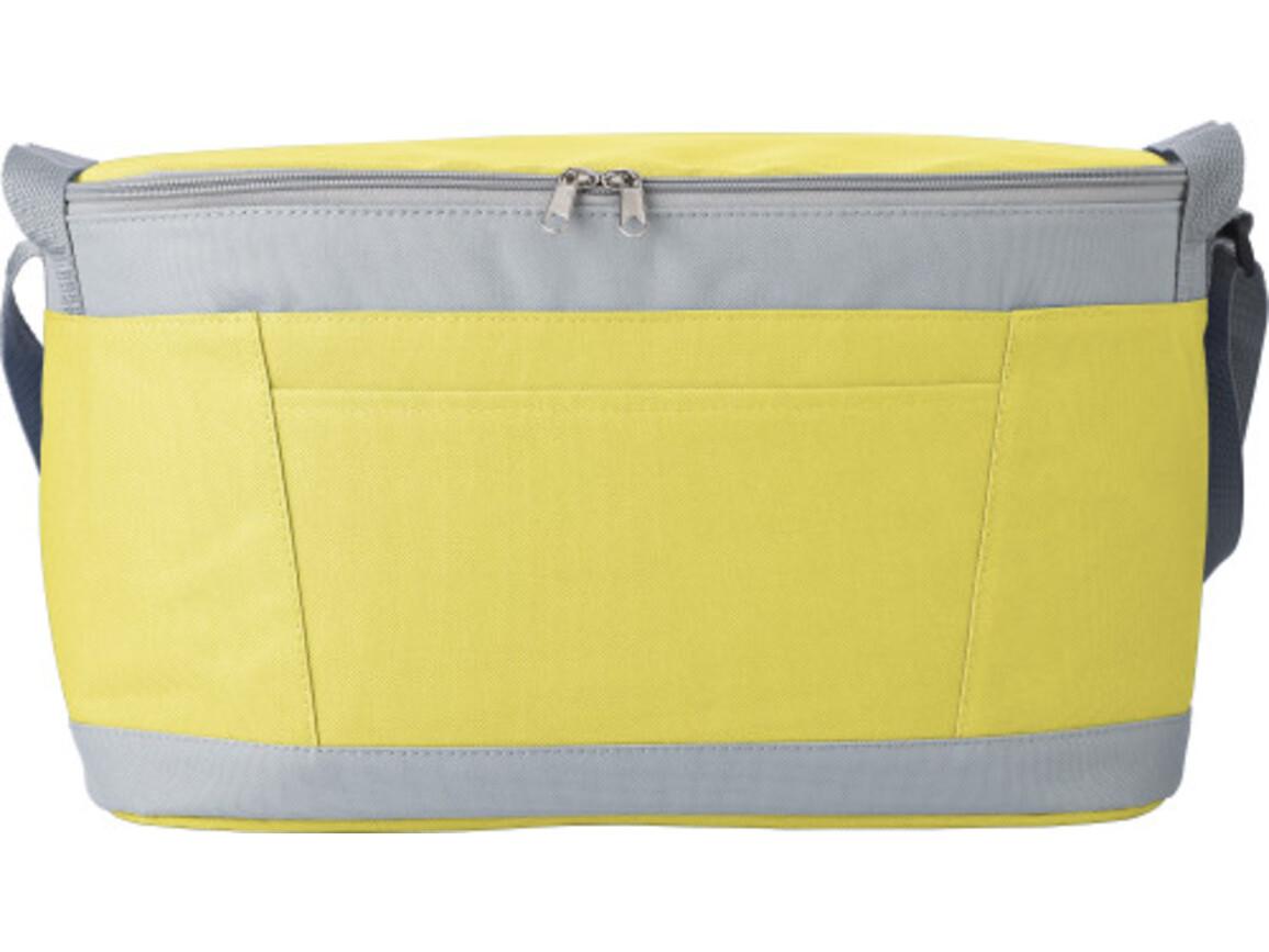 Kühltasche 'Eisprinz' aus Polyester – Gelb bedrucken, Art.-Nr. 006999999_9171