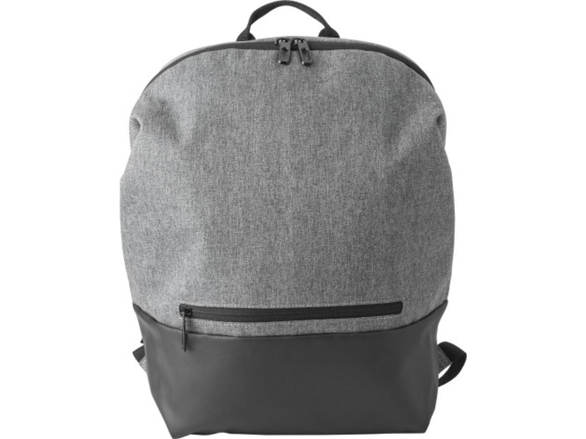 Rucksack 'Biggelo' aus Polyester – Grau bedrucken, Art.-Nr. 003999999_9176
