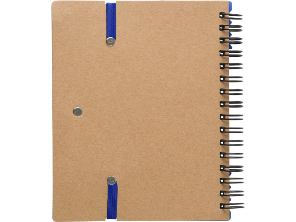 Notizbuch 'Layer' aus Karton – Blau bedrucken, Art.-Nr. 005999999_9182