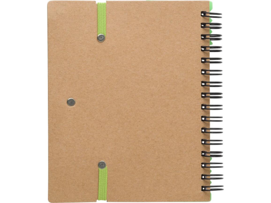 Notizbuch 'Layer' aus Karton – Hellgrün bedrucken, Art.-Nr. 029999999_9182