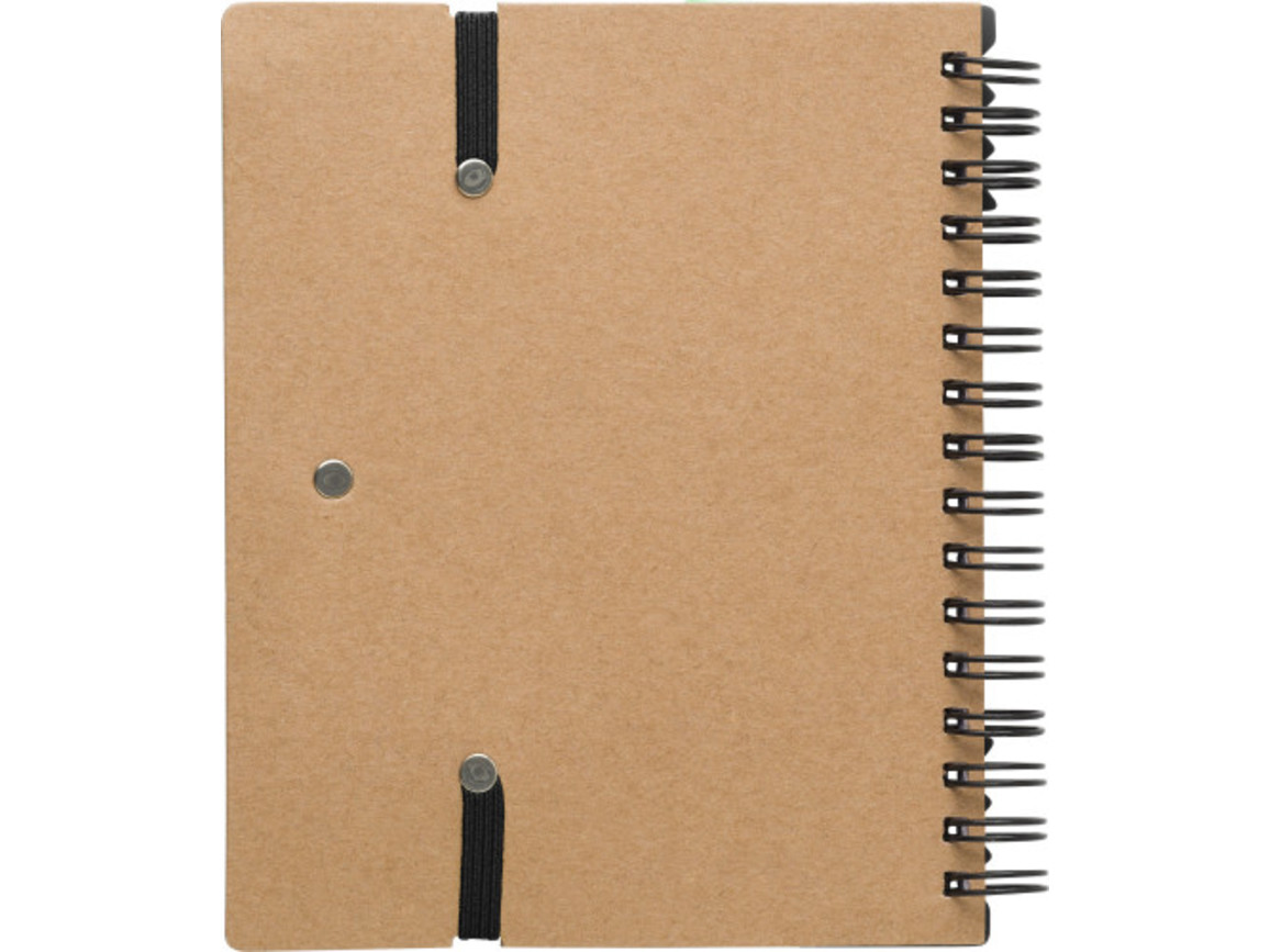 Notizbuch 'Layer' aus Karton – Schwarz bedrucken, Art.-Nr. 001999999_9182