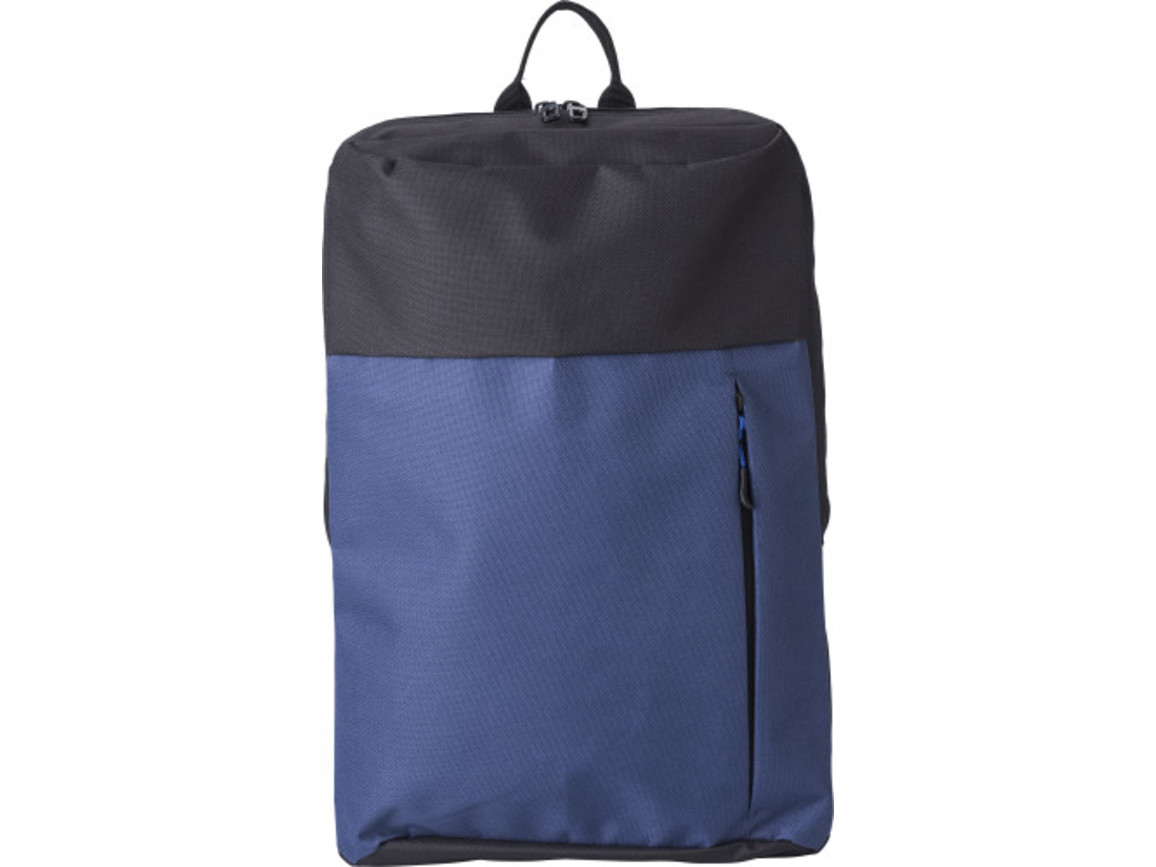 Rucksack 'Anton' aus Polyester – Blau bedrucken, Art.-Nr. 005999999_9185