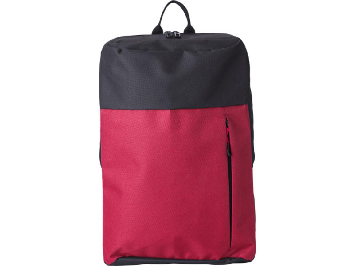Rucksack 'Martin' aus Polyester – Rot bedrucken, Art.-Nr. 008999999_9185