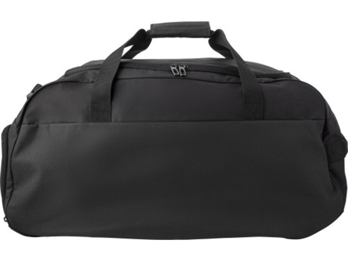 Sporttasche 'Shane' aus Polyester – Schwarz bedrucken, Art.-Nr. 001999999_9186