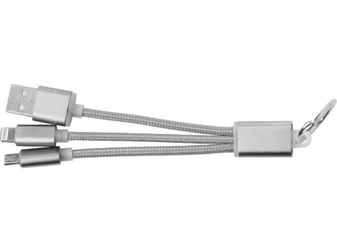 USB-Aufladekabel 'Choose' aus Aluminium – Silber bedrucken, Art.-Nr. 032999999_9215