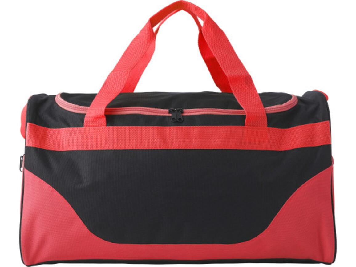 Sporttasche 'Breeze' aus Polyester – Rot bedrucken, Art.-Nr. 008999999_9246