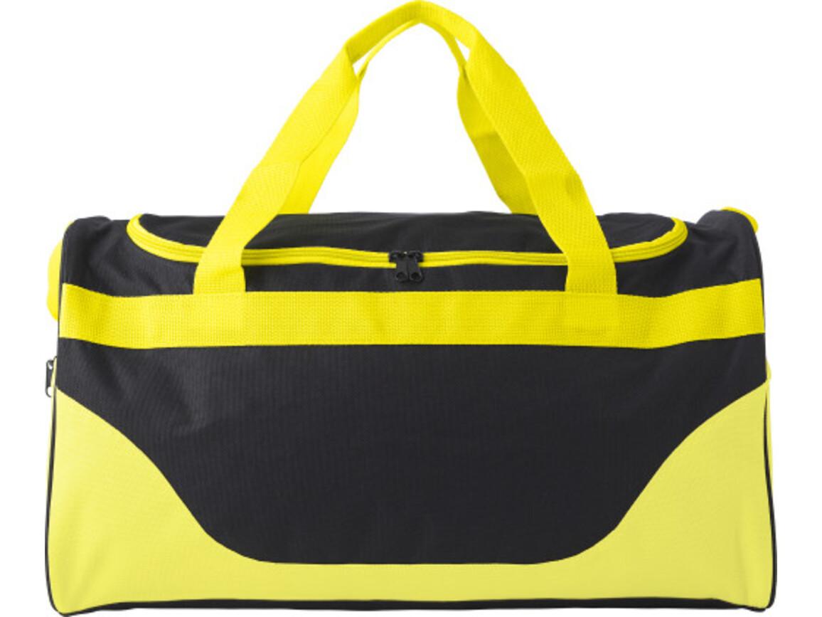 Sporttasche 'Breeze' aus Polyester – Gelb bedrucken, Art.-Nr. 006999999_9246